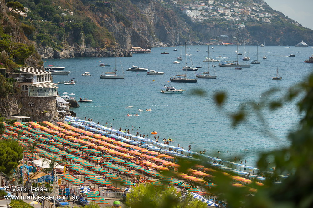 (Photo Mark Jesser) Positano, Italy. - Beach umbrellas