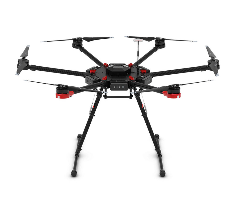 DJI M600 - Specifications:Diagonal Wheelbase 1133 mmAircraft Dimensions: 1668 mm x 1518 mm x 759 mm (Propellers, frame arms and GPS mount unfolded)640 mm x 582 mm x 623 mm (Frame arms and GPS mount folded)Package Dimensions: 620 mm x 320 mm x 505 mm6 Intelligent Flight Batteries10kg WeightMax Takeoff Weight 15.1 kg