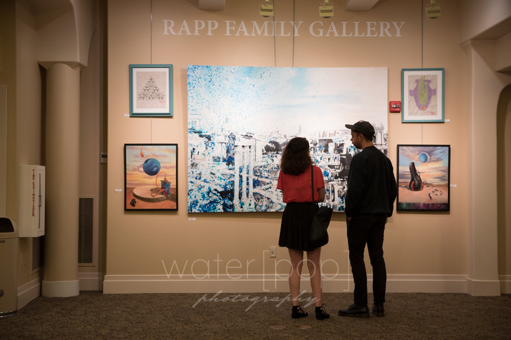 The Rapp Family Gallery at Indiana Landmarks in downtown Indianapolis. The Flight of Fancy exhibit ran through Halloween 2016.