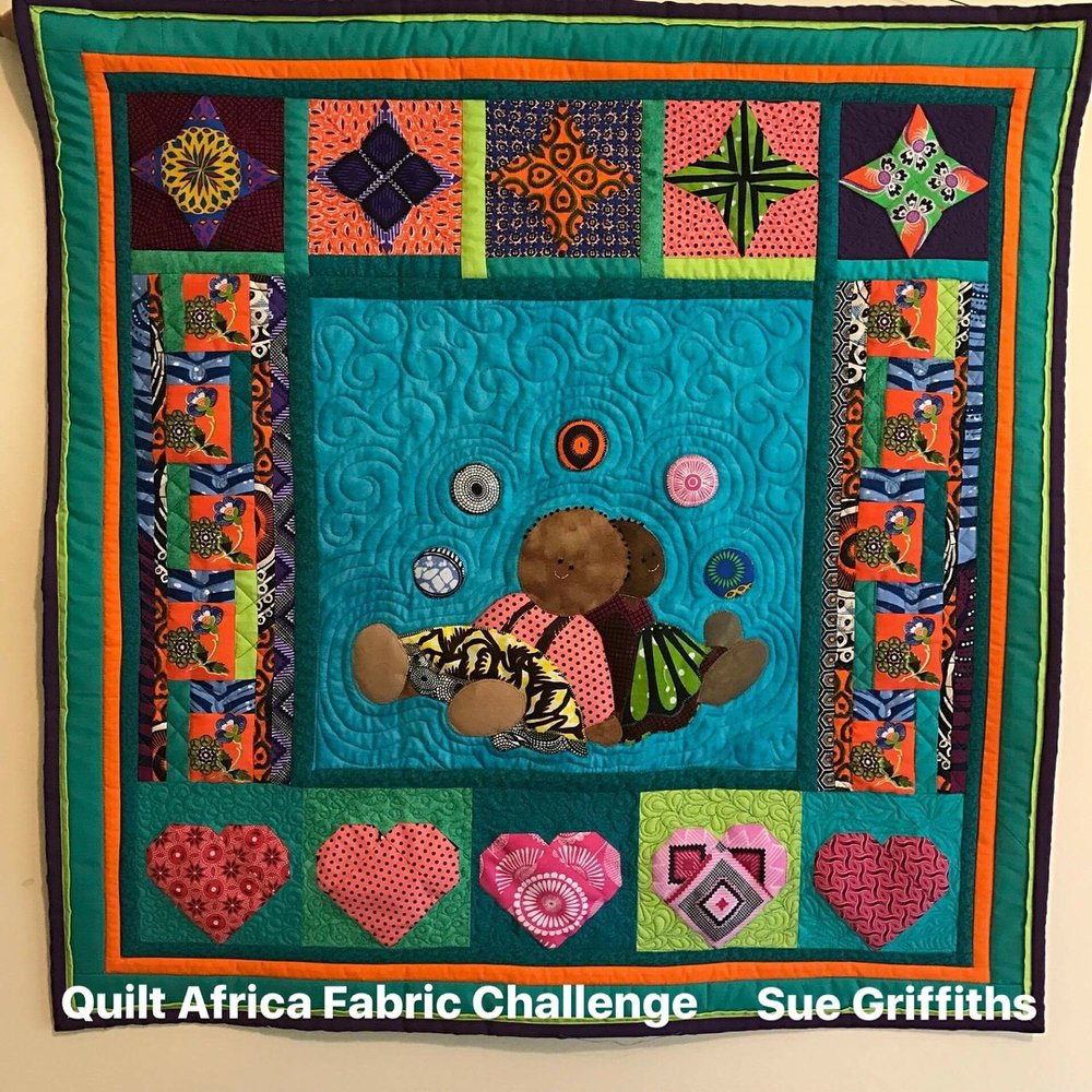 Quilt Africa Fabrics with Miriam - Miriam is a wonderful mother, architect, seamstress and quilter from Nigeria in Africa. She has access to fabulous African fabrics from the local markets. She's running fantastic quilt challenges using African fabrics. I love these fabrics and I love hearing about Africa and its wonderfully rich culture and traditions. Here's a link to her facebook page.