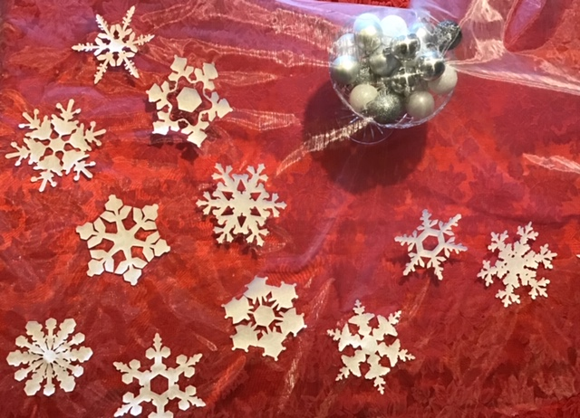 snowflakes on organza