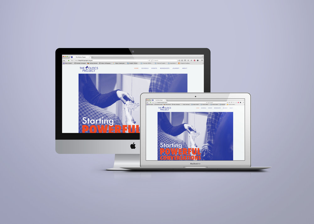 Responsive website for The Politics Project UK