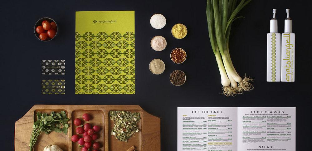 Rebranding and menu design