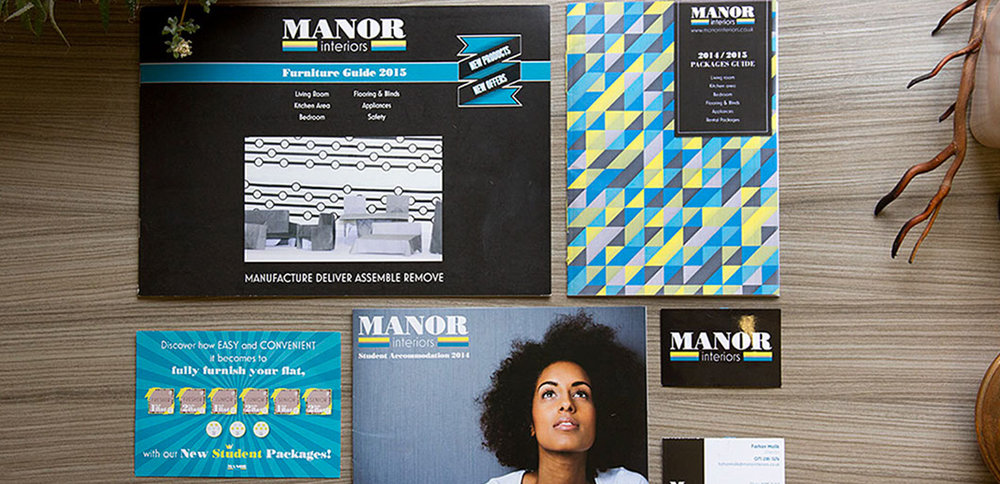 Manor Interiors   -  Branding, Art Direction & Print Marketing Materials