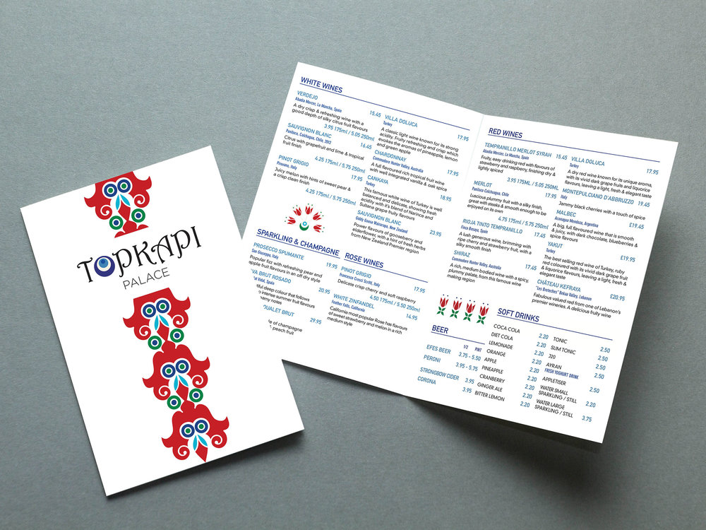 Topkapi Palace     -  Brand Lift, Pattern Design, Menu Design, Web Design
