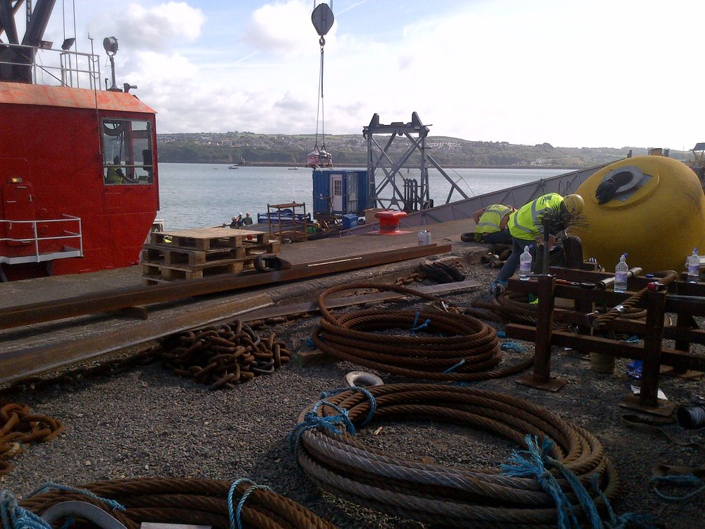 Fishguard crane industrial rigging
