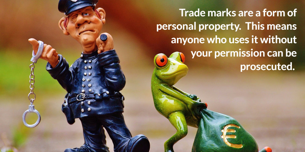 Trade mark theft can be prosecuted.