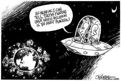 Men hva med religion og krig?