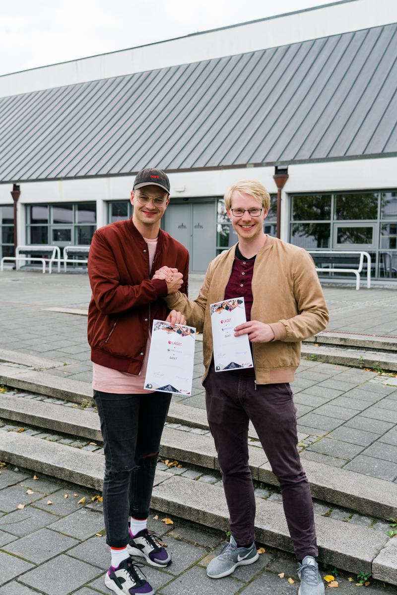 Ungdomsleder Ole Bjørn Nord-Varhaug (t.v.) og Lagsarbeider Sigvart Eide gleder seg til mer samarbeid med ny avtale på plass.