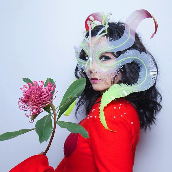 Bjork wearing the 'Ghost Orchid' Headpiece via  @james.t.merry