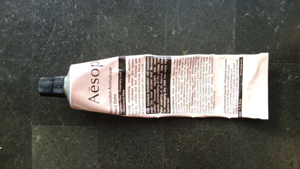 This Aesop moisturiser is a posh party for your hands and feet!