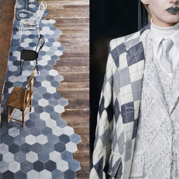 Patchwork Geometry | Images:  Cle Tile  |  Thom Browne