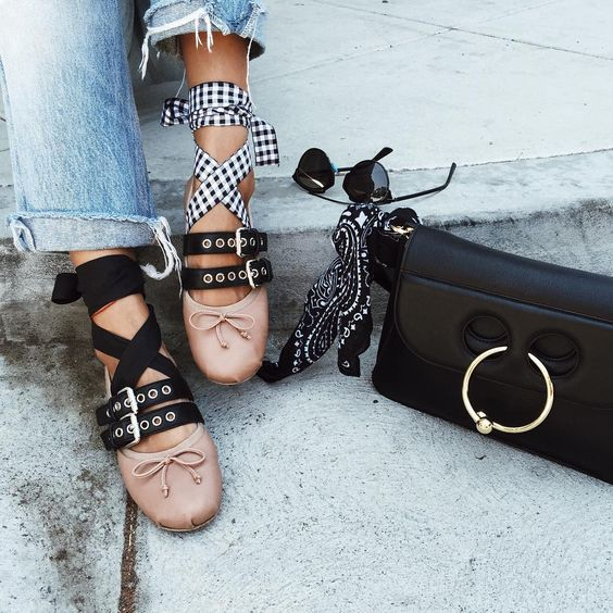 Miu Miu lace up ballerinas  Pernille Teisbaek