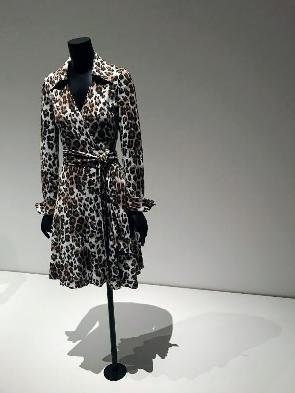 Diane Von Furstenberg wrap dress at MoMa Exhibit, 'Items: Is Fashion Modern?'