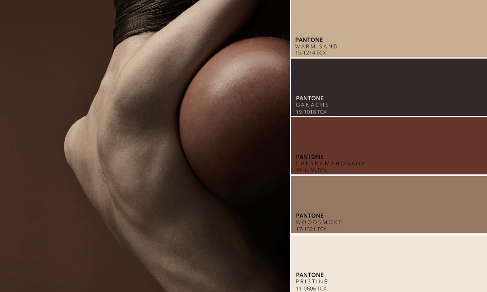 Toasted Umber Colour Palette by Tactile Trends | Photography -   Jonas Bjerre-Poulsen      Close Contact is an exhibition at Kinfolk Gallery in collaboration with Kinfolk, Norm.Architects and Sorensen Leather