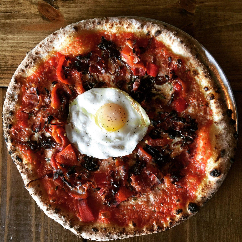 brunch menu pizza bruno