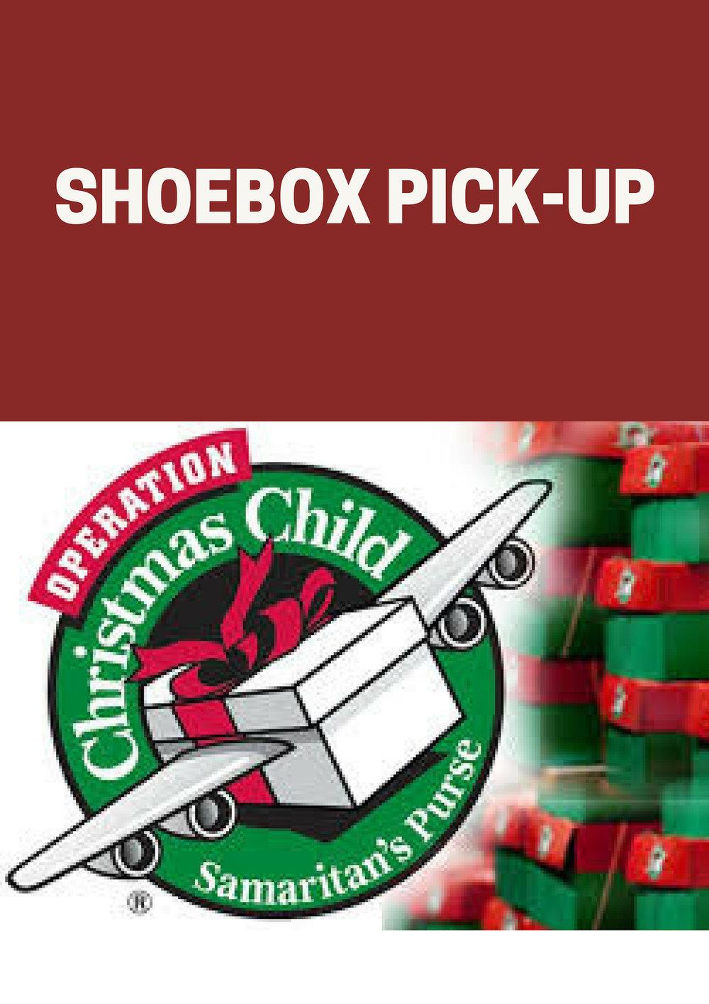 Operation Christmas Child Shoebox.Operation Christmas Child Shoebox Pick Up Grace Community