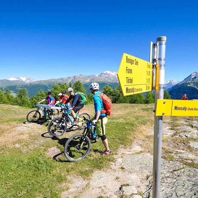 We will help you navigate through beautiful Wallis in the Alps. Book your summer holidays now!  #mtbswitzerland #weloveenduromtb #trekbikes #ridewithyourfriends
