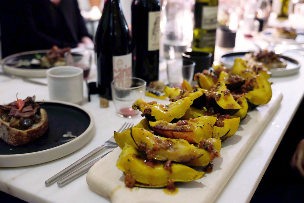 Roast Acorn Squash, Chimichurri