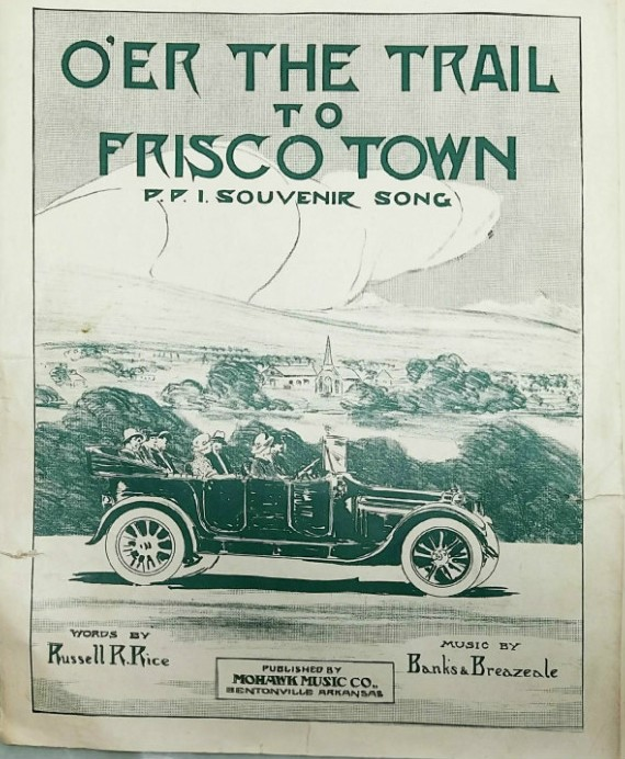 Sheet music written for the Pan-Pacific Exposition, 1915, Russell Rice, author collection.