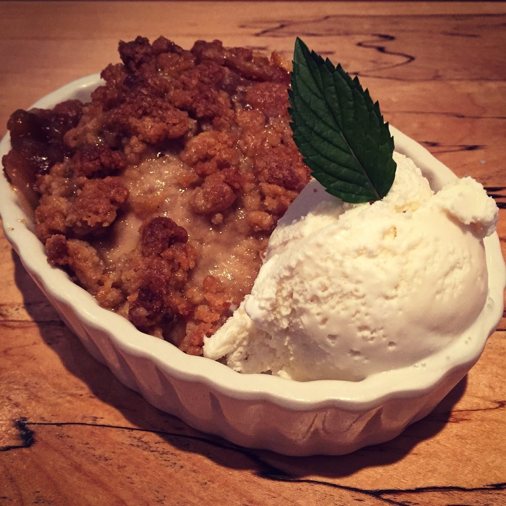 Homemade apple cobbler