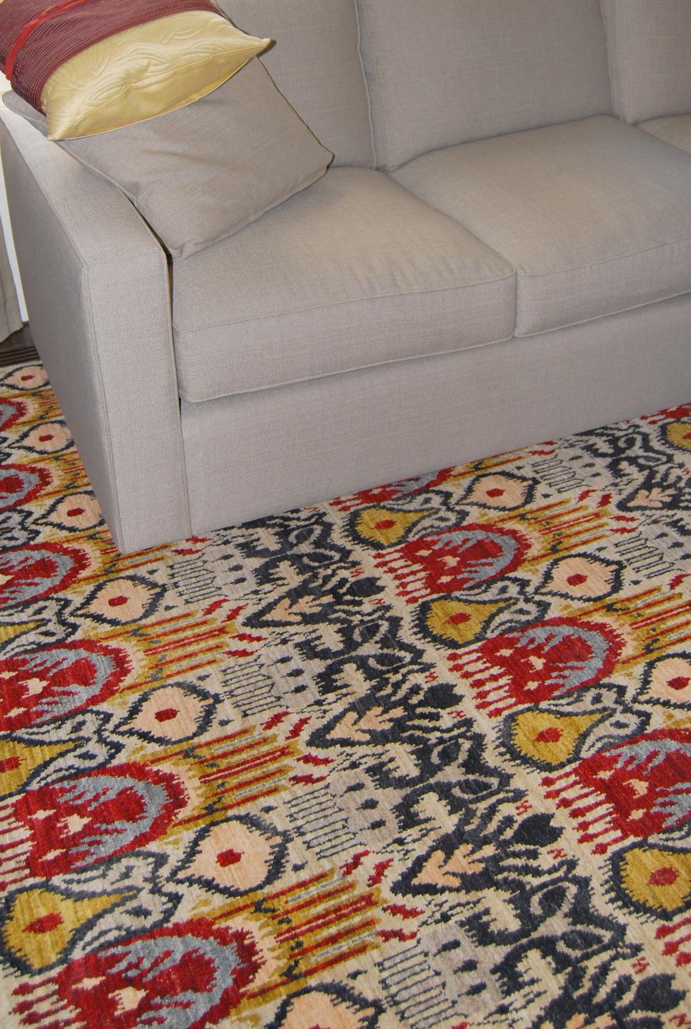 Rug and sofa selection. Palmolive Building.