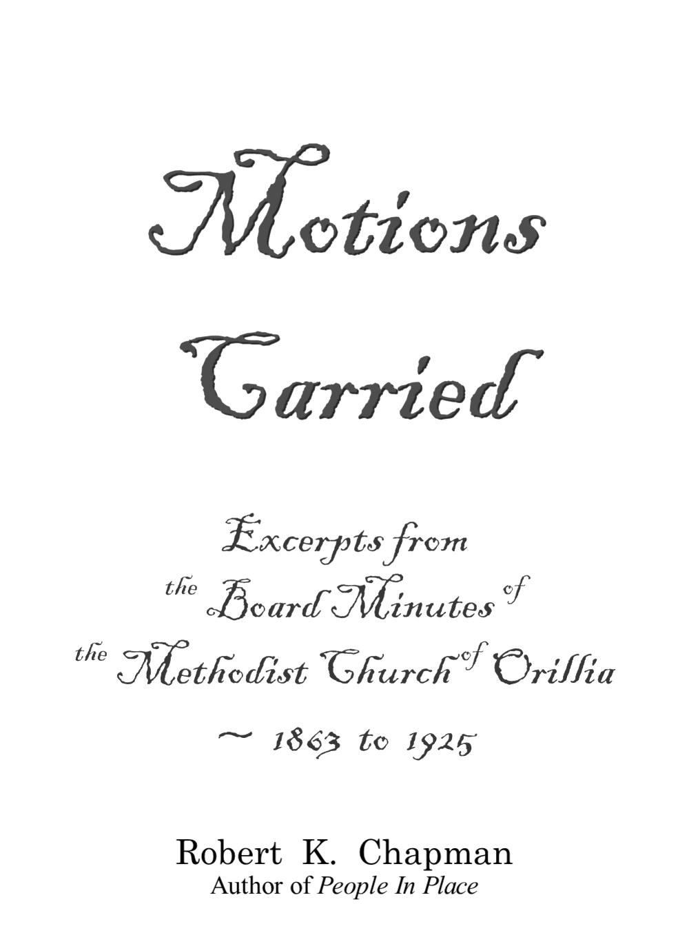 Motions Carried front cover