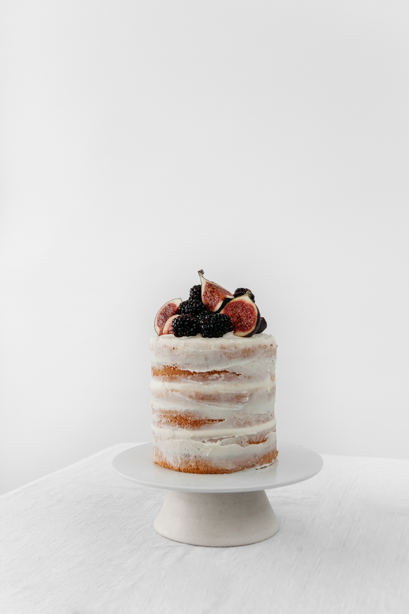 Blackberry and Fig Buttercream Cake - Rye London