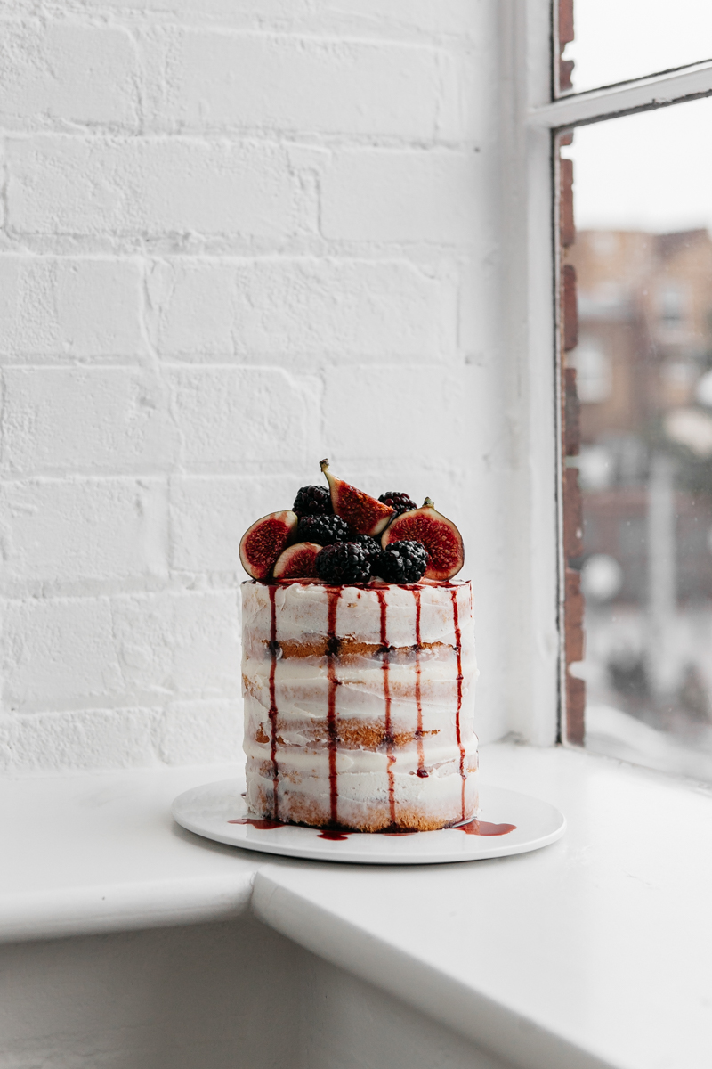 Blackberry and Fig Buttercream Cake with Blackberry Syrup - Rye London