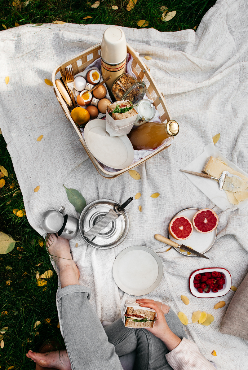 Goodbye Autumn Picnic, Perfectly Boiled Eggs + Sourdough Sandwiches with Salami and Manchego - Rye London