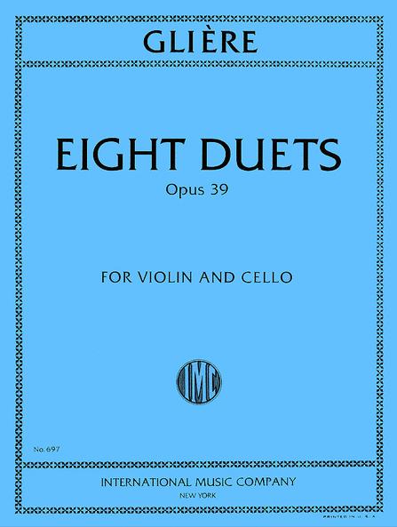 R. GLIERE (1875 - 1956)   8 pièces Opus 39  - Prélude - Gavotte - Berceuse - Canzonetta - Intermezzo - Impromptu - Scherzo - Etude