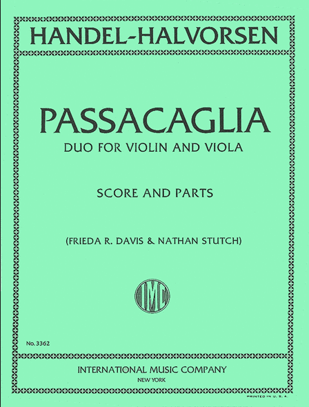 J. HALVORSEN (1864 - 1935)   Passacaglia  Variations sur un thème de G.F Handel de la suite N°7 en Sol mineur pour clavecin