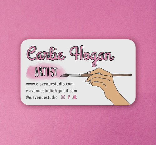 Custom business cards hand plus heart custom business cards reheart Images