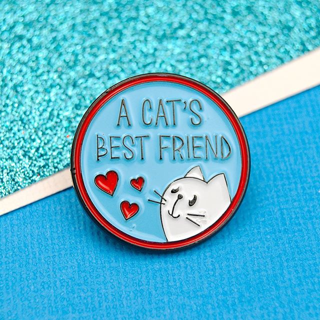 Are you a cat's best friend? Grab yours from poweruppins.etsy.com or our site at poweruppins.com #pingame #pingamestrong #enamelpin #enamelpins #accessories #cat #cats #catlover #pinbadge