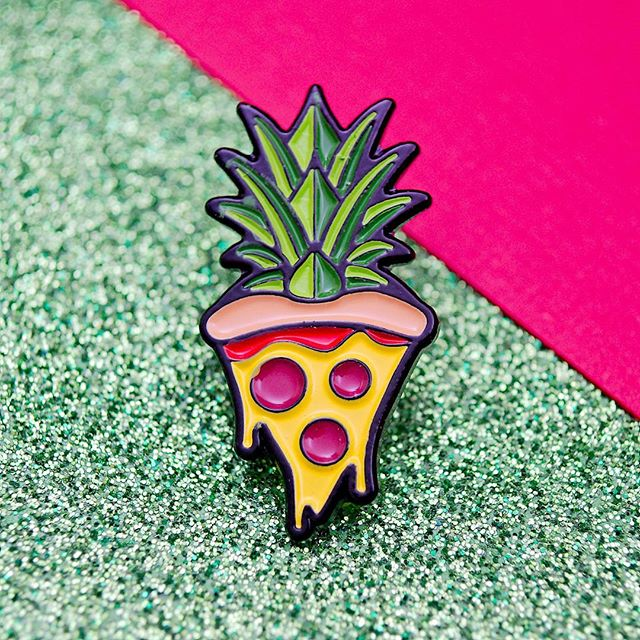 Pro Pineapple or NO Pineapple? #pizza #pingame #pingamestrong #enamelpins #EnamelPin #food #Italian #accessories #pincommunity #pincollection #pincollector #pinstagram #pins #badge #lapelpin