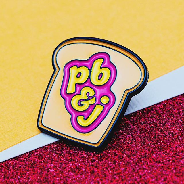 PB&J is the best ever! #pingame #pingamestrong #food #toast #pb&j #jelly #jam #peanut #peanutbutter #cute #accessories #enamelpins #EnamelPin #pincollector #pincollection #pincommunity #bread #sandwich #pinaddict #flair #flairgame #pinstagram