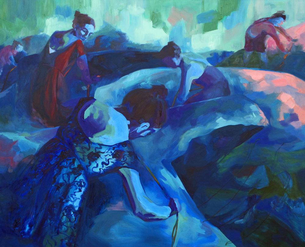 "Oil on Canvas  48""x60""  2016"