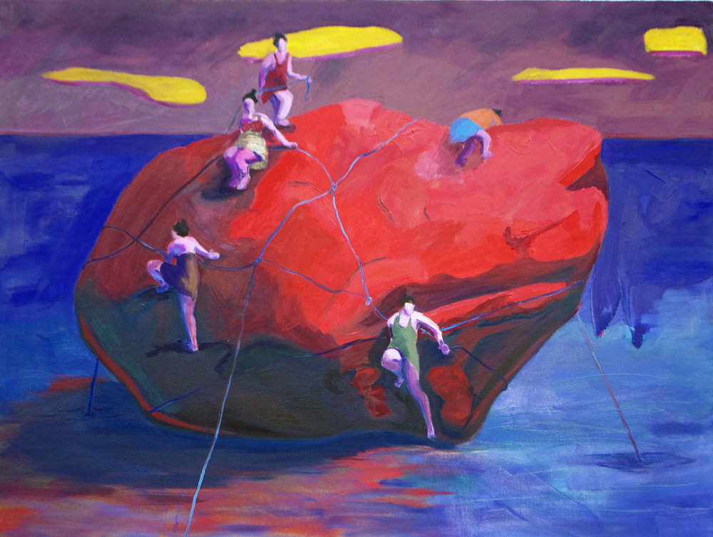 "Oil on Canvas  30""x40""  2016"