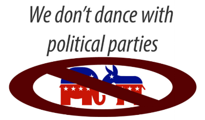 WE DON'T DANCE WITH POLITICAL PARTIES