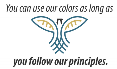YOU CAN WEAR OUR COLORS AS LONG AS YOU FOLLOW OUR PRINCIPLES