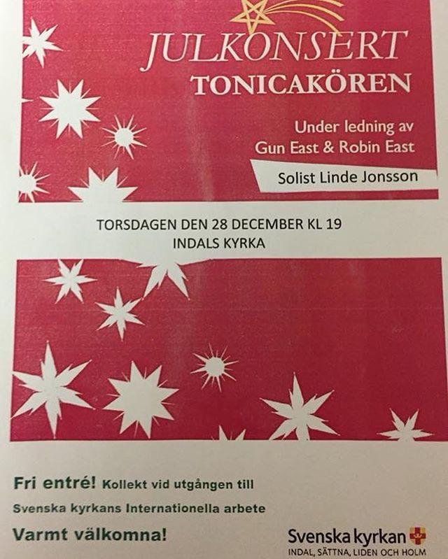 Välkommen till Indals kyrka! Kom och lyssna på oss tillsammans med fantastiska Linde Jonsson!