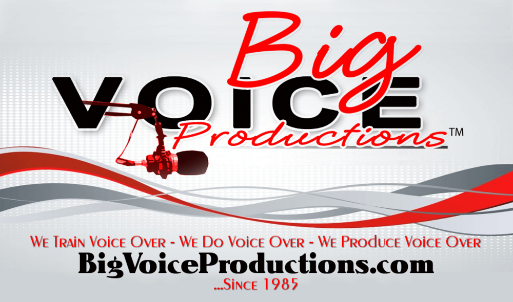 Big Voice Productions business card side 1