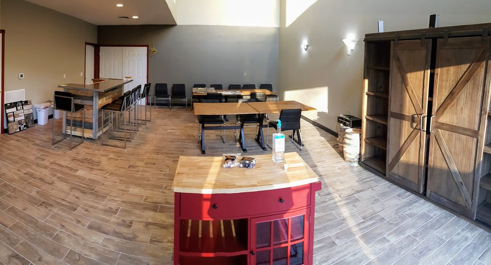 Our developing tasting room