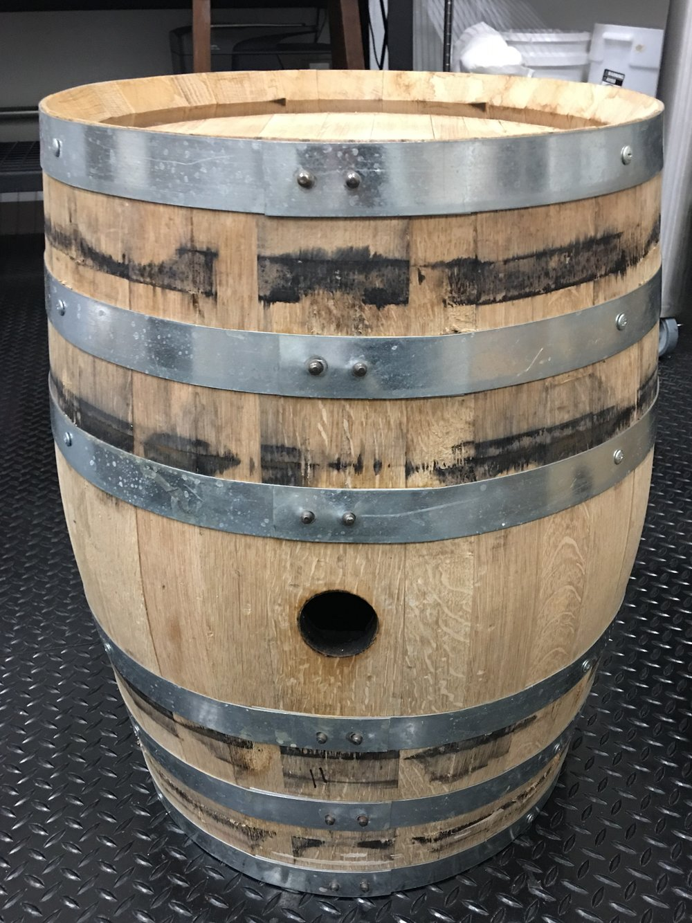 Barrel after pulling aged gin out.  November 2017