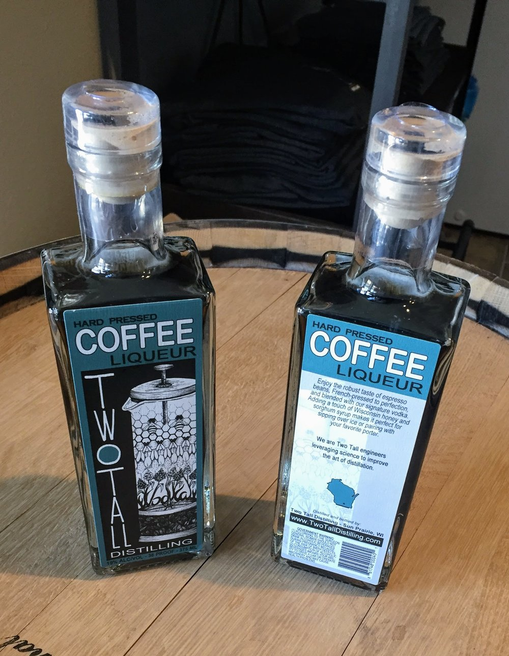 - French-pressed coffee brewed at the distillery for maximum freshness; married to our vodka base and very lightly sweetened with Wisconsin honey and sorghum syrup. Need we say more?