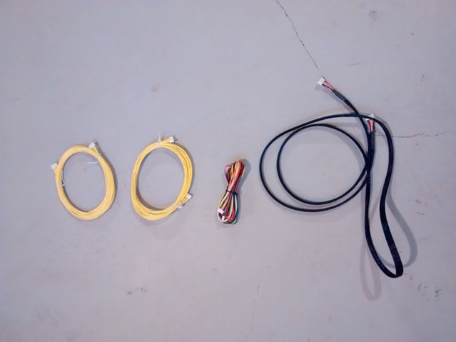 Motor Wire Prototype Progression #1, #2, #3, #4 (left to right)