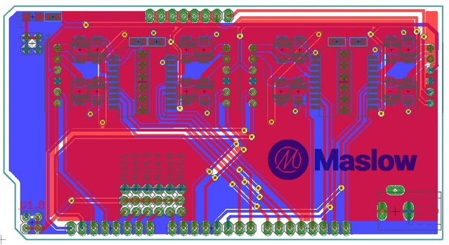 Maslow controler PCB revision .6 (in production)