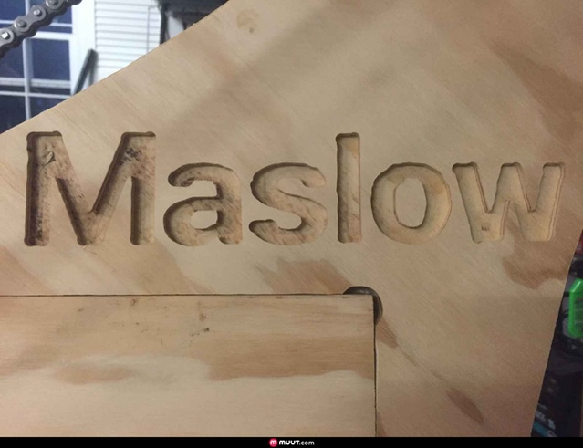 Makermark engraved his frame with the Maslow name and logo!