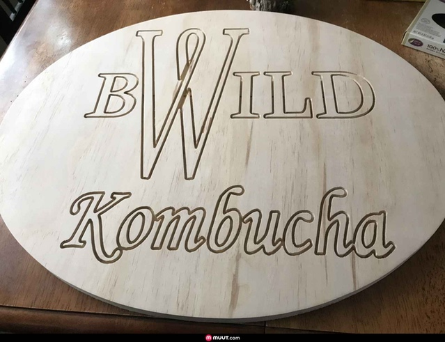 This Kombucha sign was made by blsteinhauer88