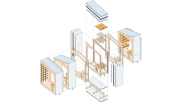 A diagram showing how the POD goes together. Image courtesy of SERA Architects.